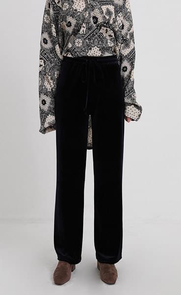 velvet banding pants (3colors)