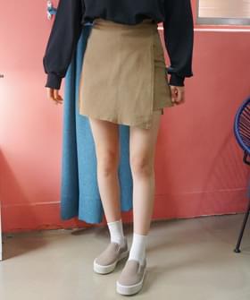Brushed skirt pants