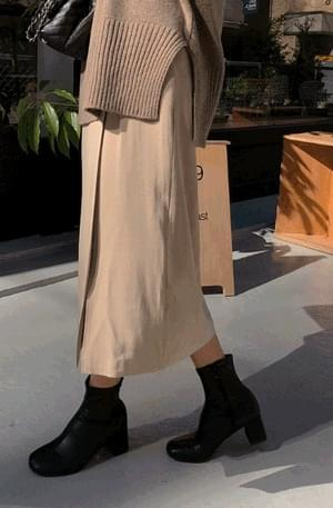Dayoff-slit long skirt