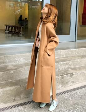 韓國空運 - Paris belt handmade coat_S (울 90%) (size : free) 大衣