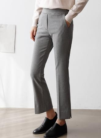 Roman Lin Check Semi-Boot Cut Slacks