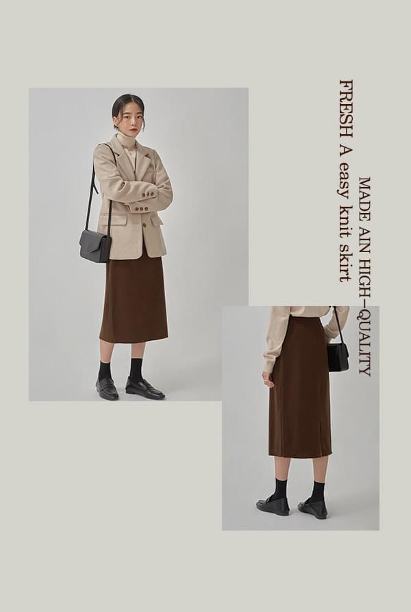 FRESH A easy knit skirt