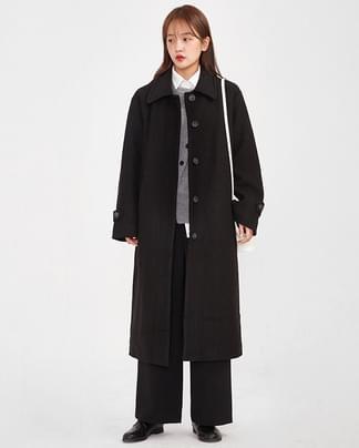 objet heavy long coat