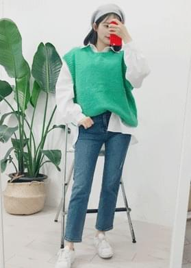 Cotton candy box knit vest