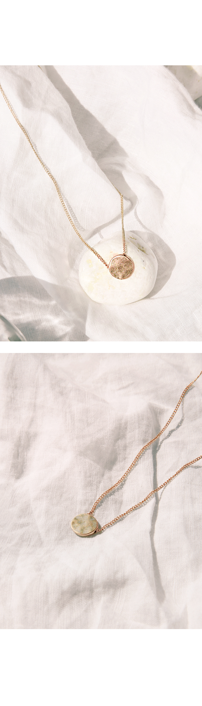 [JEWELRY] BASIC GOLD CIRCLE NECKLACE