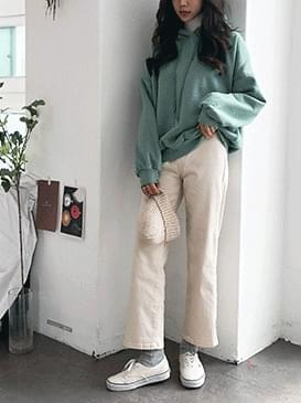 Natural 01 Straight Cotton Pants
