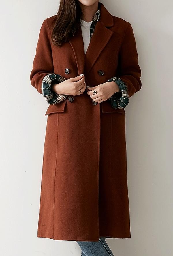 Amble double wool coat