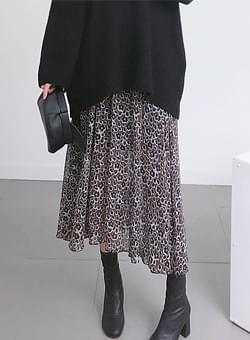 Print Chiffon Long Skirt