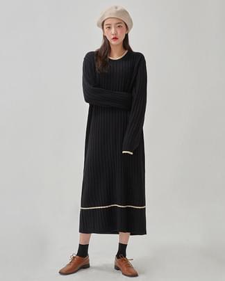 soft ladyish knit long ops