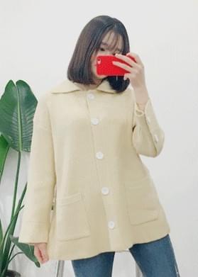 Karan knit button cardigan
