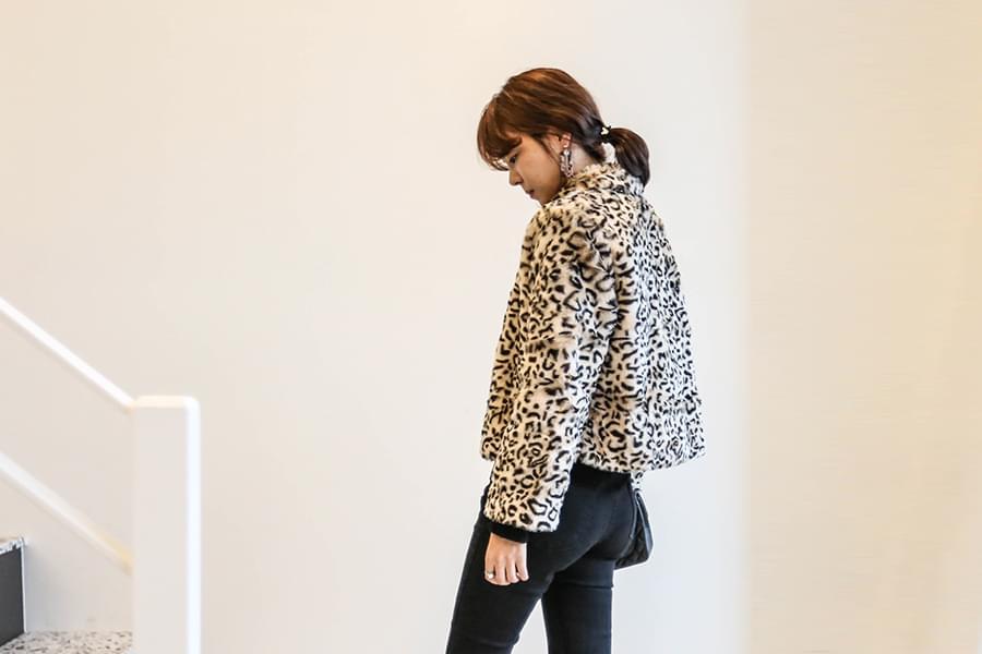 Leopard Fur Short Jacket _jk02771