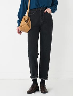 simple daily denim pants