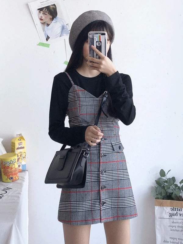 Martin pocket check skirt