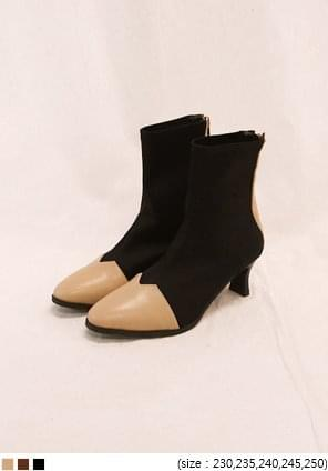 LIMBER COLOR POINT ANKLE BOOTS