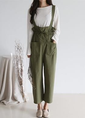 Female jump suit suspenders pants