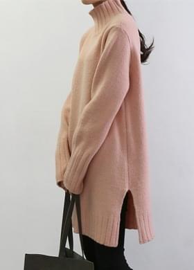 Long Knit Dress Neck Polar