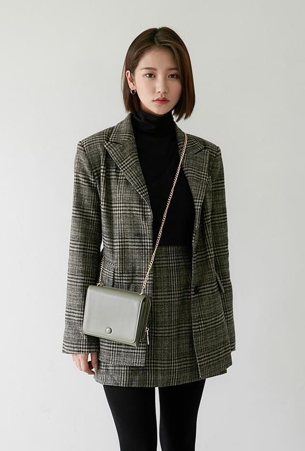 Julie check jacket