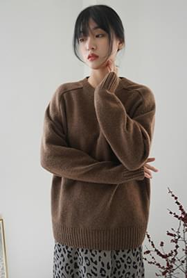 Natural mood wool knit