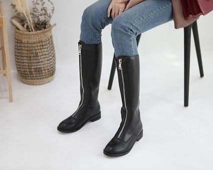 Anode Zipper Long Boots