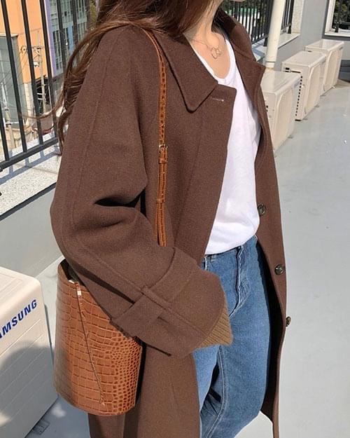 핸드메이드 카라 코트 (2color)