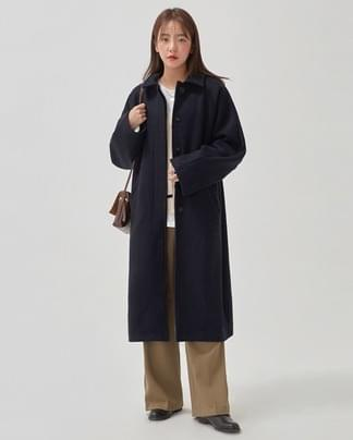 dinky back slit wool coat
