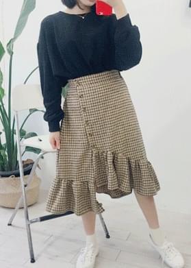 Unchecked ruffle skirt