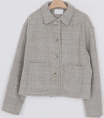 glen check pocket jacket (2colors)