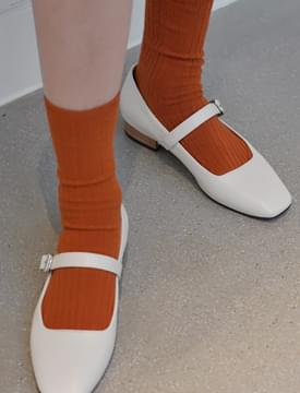 Snack color ankle socks_H (size : one)