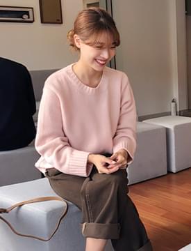 Benito wool round knit_H (울 70%) (size : free)