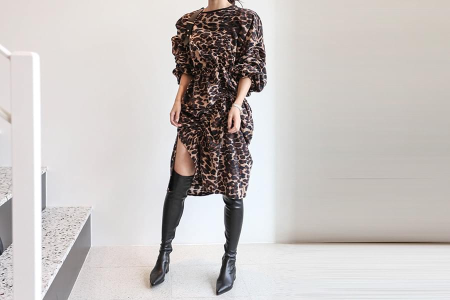 Leopard avant-garde string dress _OP02724