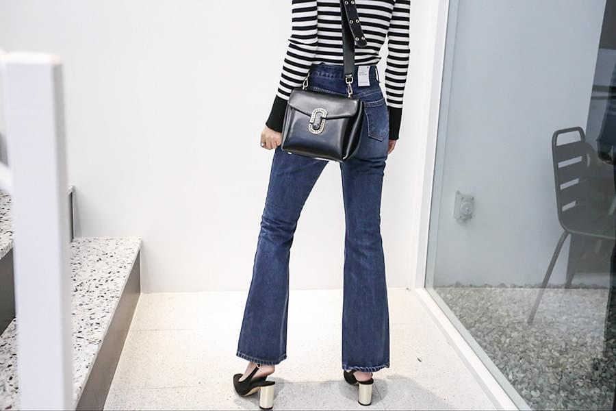 Boots cut high waist denim jeans pants _PT02772