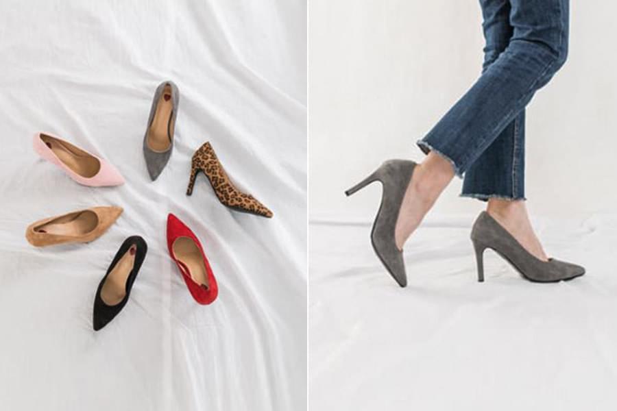 Suede stiletto heels _ss02777