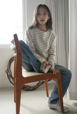 Patch point stripe tee