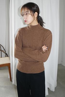 Half neck wearable knit