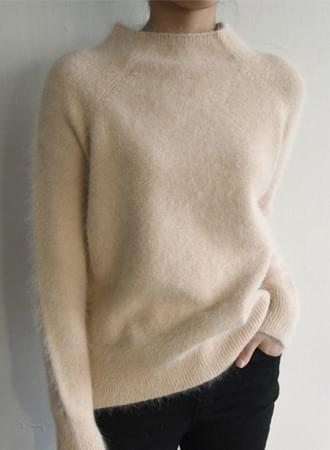 Uni Half Neck Angora Knit