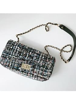 Pearl Tweed Chain Bag