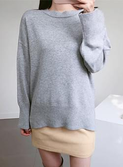 Gray top long knit