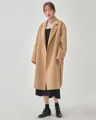 refined handmade coat (wool90%)
