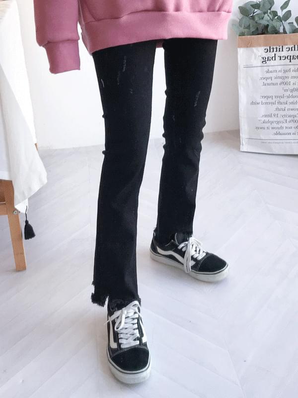 Black Wave Boot Cut Pants