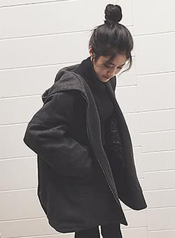 Charcoal Simple hood jumper