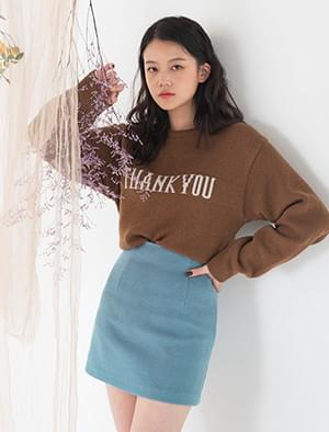thank you lettering knit