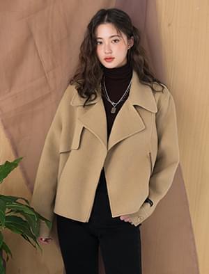 boxy fit semi crop jacket