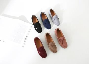 Suede Ribbed Driving Shoes