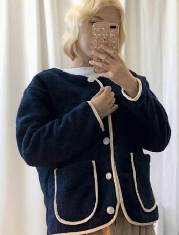 노카라 뽀글이 양털 자켓(3colors)