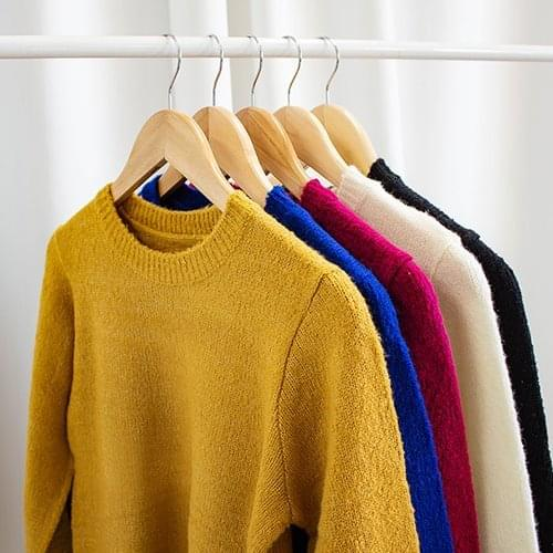 Apple Color Round Knit