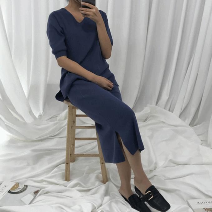 J-knit skirt set
