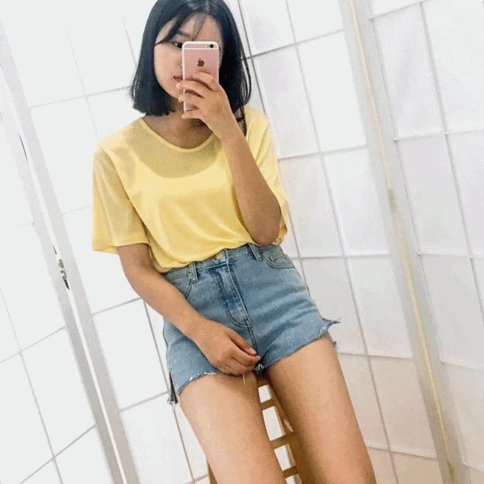 Rich denim shorts