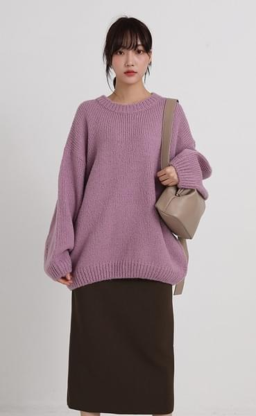 balloon wool loose knit (4colors)