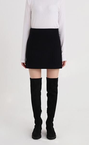 formal wool mini skirt (2colors)