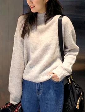 Lazy mohair knit_S (모헤어 20%, 울 40%) (size : free)